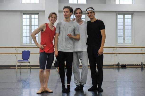 Daniil Simkin, Leonid Sarafanov, Roman Novitzky and Daniel Camargo, photo: Roman Novitzky
