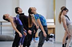 Rehearsing Dark Glow: Leda Šeparović, Matteo Miccini, Katarzyna Kozielska, Alicia Amatriain